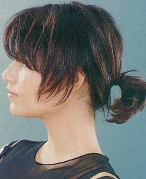 Ponytail styles for short hair messy ponytail ponytail and ponytail styles for short hair urmus Image collections