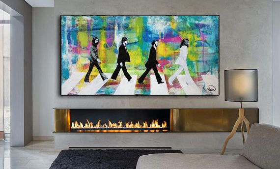 The Beatles Modern Pop Canvas Print Wall Art