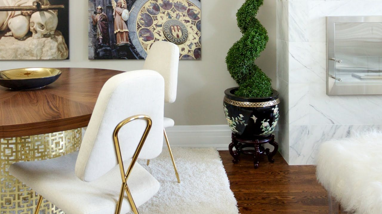Interior Design Luxurious Glam Small Townhouse Makeover