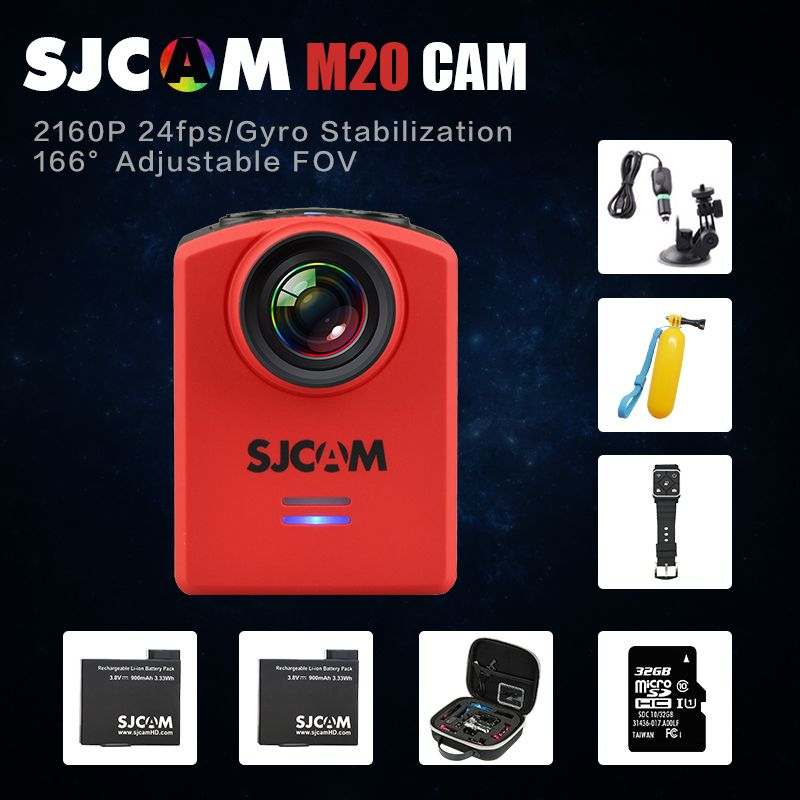 $108.90 (Buy here: http://appdeal.ru/f0vx ) Original SJCAM M20 Wifi Super Mini Gyro Stabilizer Action Video Camera 4K 24fps16MP Waterproof helmet cam Remote watch Camcorder for just $108.90