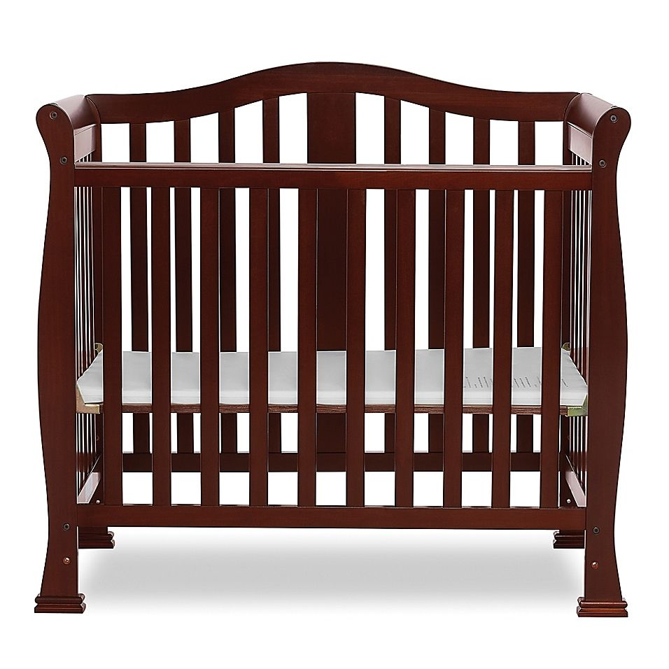 Dream On Me Naples 4 In 1 Convertible Mini Crib In Espresso Mini Crib Cribs Portable Crib