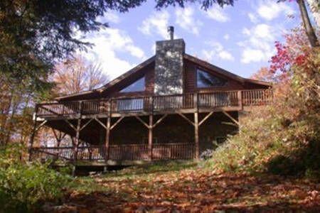 Smoky Mountain Log Cabin Creekside In Sylva North Carolina Vacation Rentals Cabin Vacation Maggie Valley