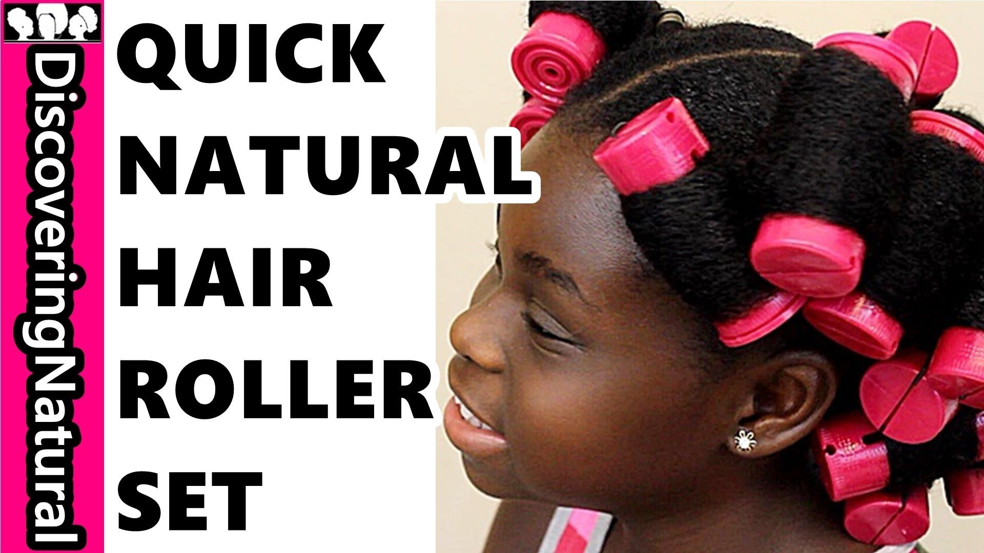 How to roller set thick natural hair c quickly using gel favorite