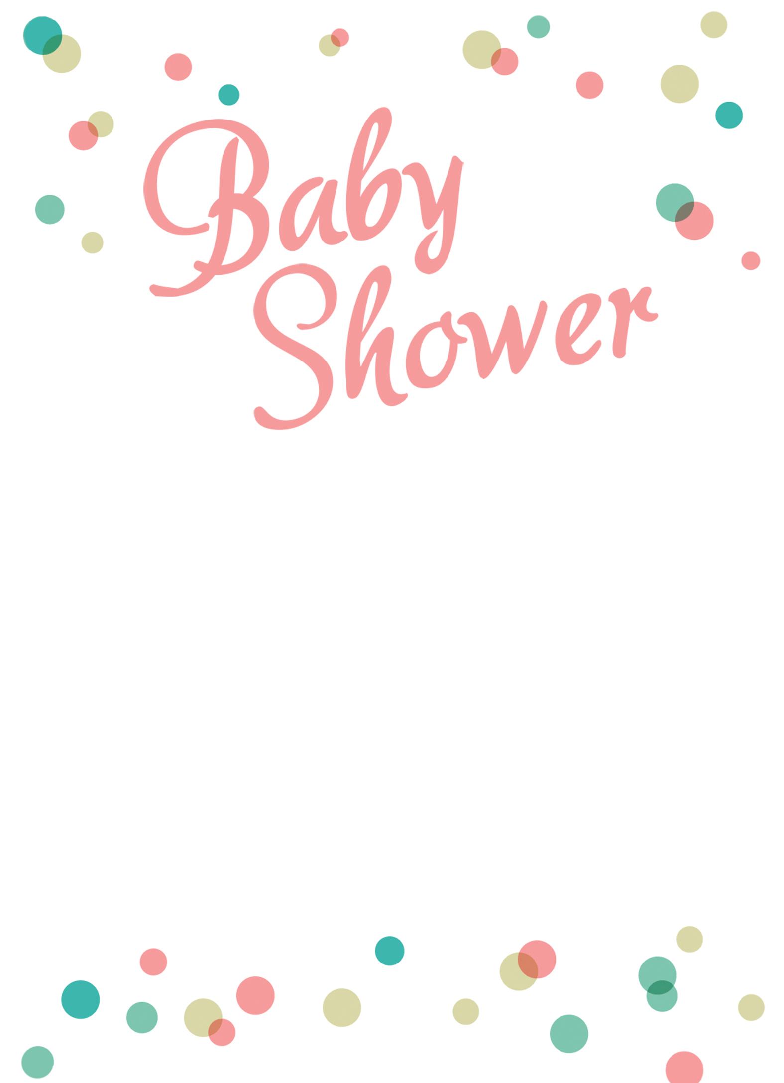 Dancing Dots Borders - Free Printable Baby Shower Invitation ...