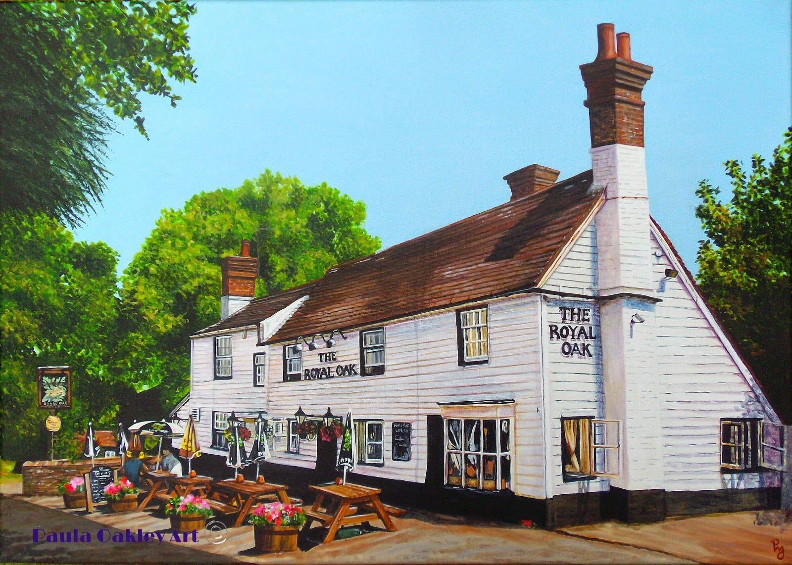""""""" Royal Oak"""" Acrylic Painting. Newick Original Art"""