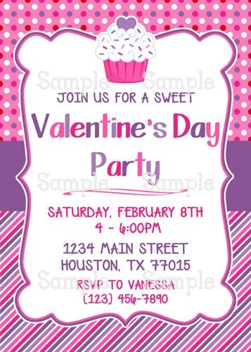 Printable Cute ValentineS Day Cupcakes Personalized Party