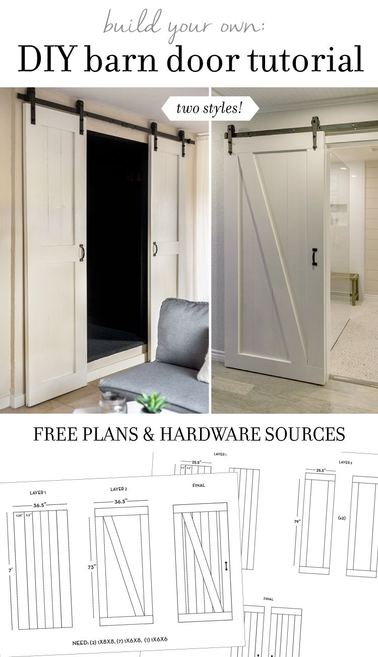 DIY Barn Door Plans Tutorial March Doors and Tutorials