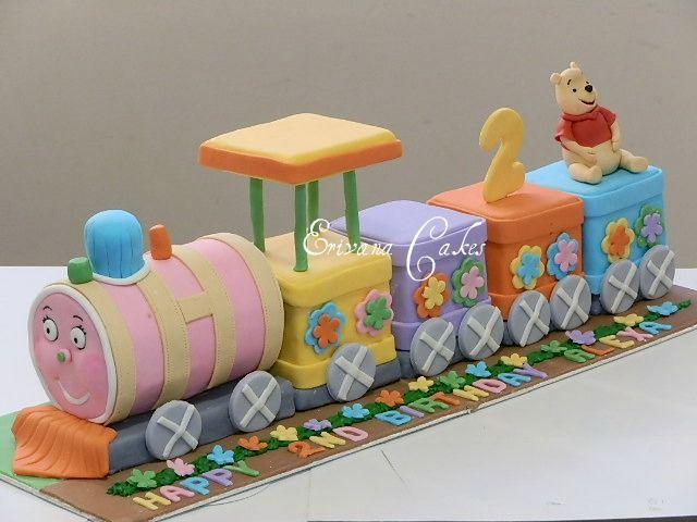 Winnie the Pooh Train Cake Winnie the Pooh Cakes Pinterest