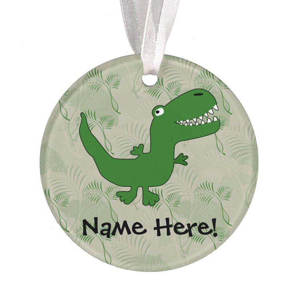 T-Rex Tyrannosaurus Rex Dinosaur Cartoon Kids Boys Ornament | Zazzle.com #tyrannosaurusrex