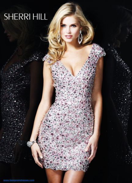 Short Dresses with Bling