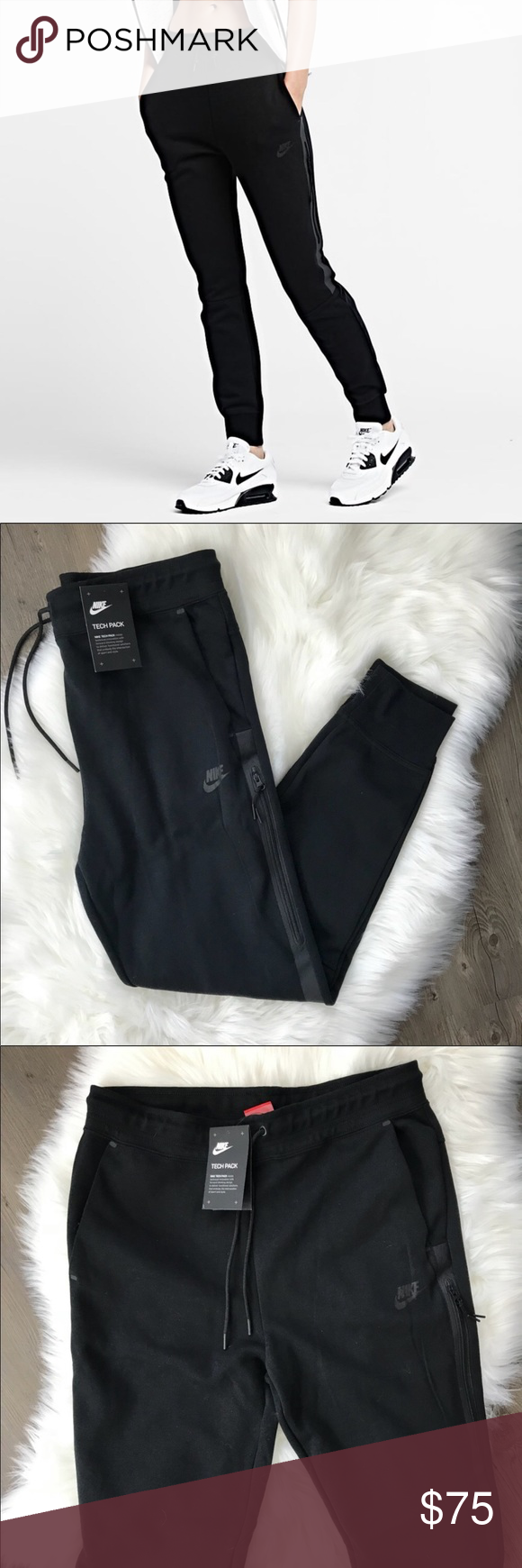 2d8a0f8a7dcf NWT Nike Tech Fleece Joggers Black • brand new with tags • size xs • no