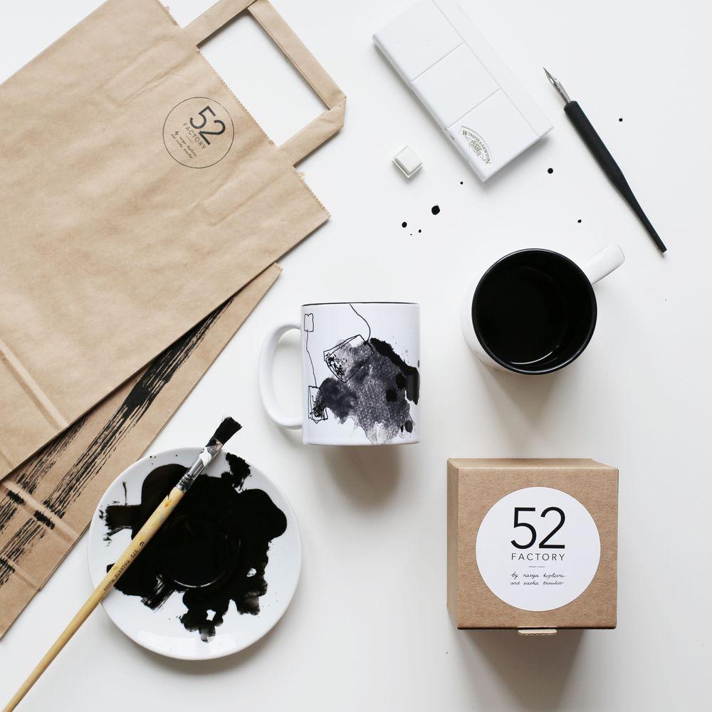 кружка керамическая  «чай, заваренный для двоих»