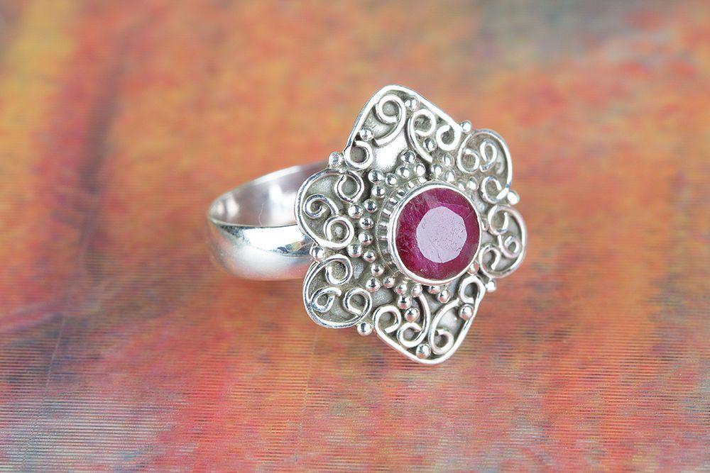 Ruby Ring 925 Sterling Ring Traditional Ring Designer Ring
