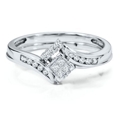 Beethoven Smart Value 1 4ct Tw Engagement Ring Set In 10k Gold Available At Hel Diamond Engagement Ring Set Diamond Engagement Wedding Ring Helzberg Diamonds