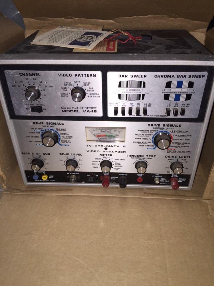 Sencore Model Va48 Tv Vtr Matv And Video Signal Analyzer