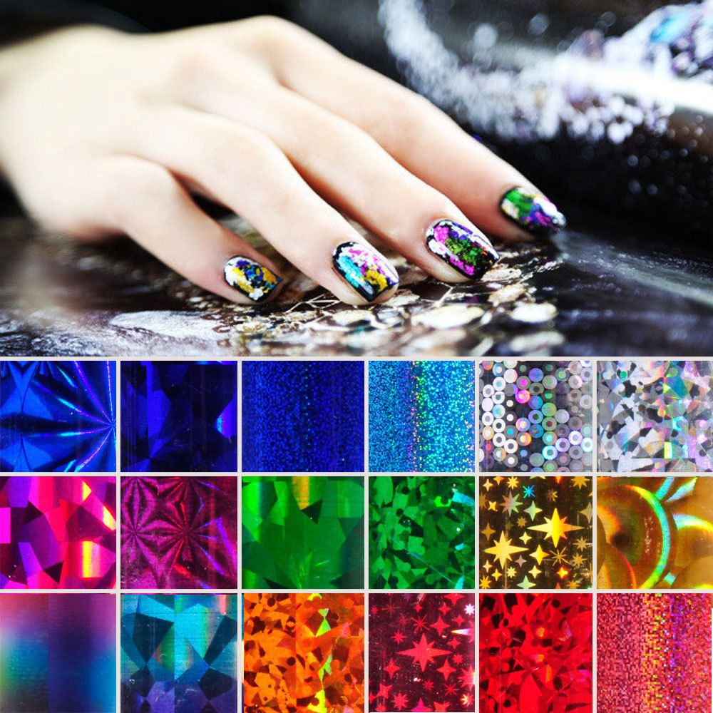Galaxy Nail Art Transfer Foil Nail Sticker Tip Acrylic DIY