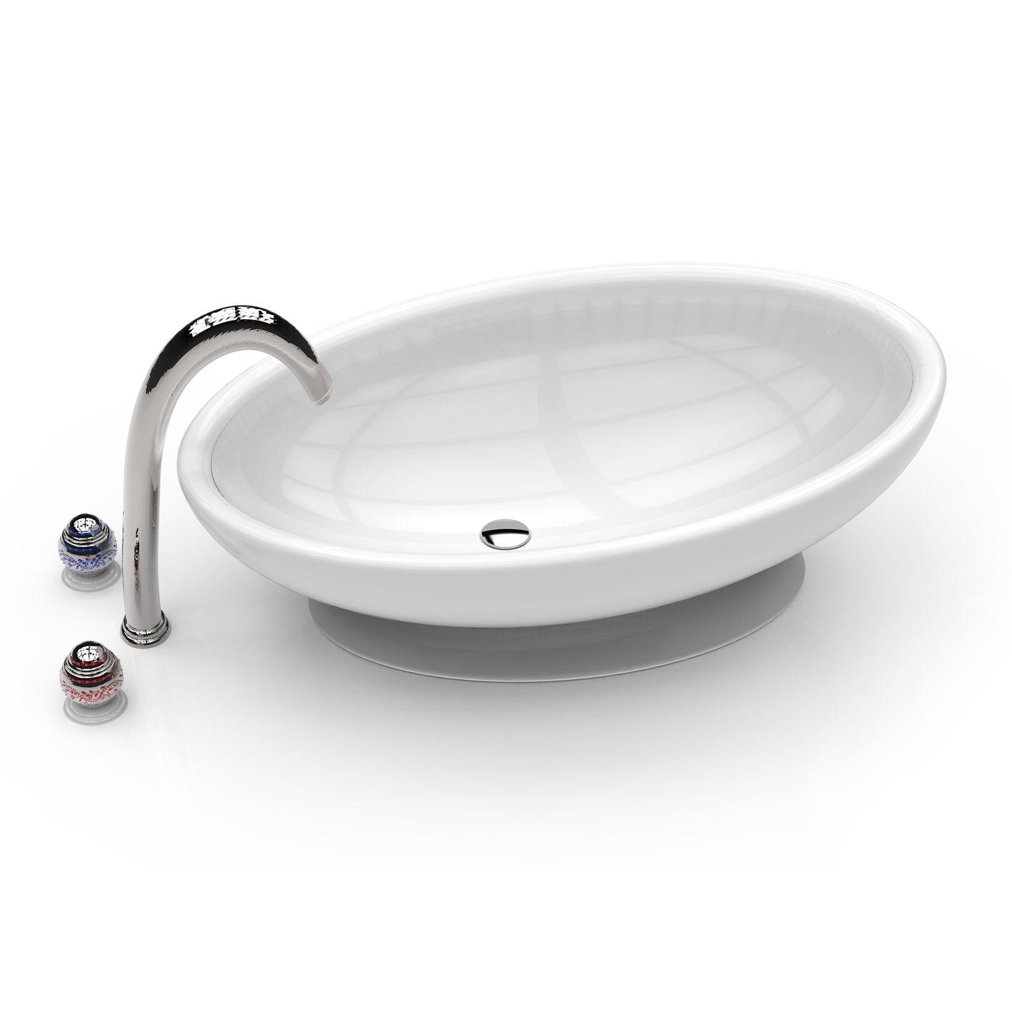 Egg la forma di questo lavandino per il bagno ricorda una met di uovo da cui prende il nome - Fare il bagno con l assorbente interno ...