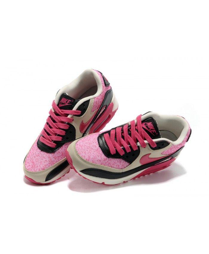 cheap for discount 3d855 efdc0 Nike Air Max 90 Womens Bright Peachblow Black Running Shoe Sale UK