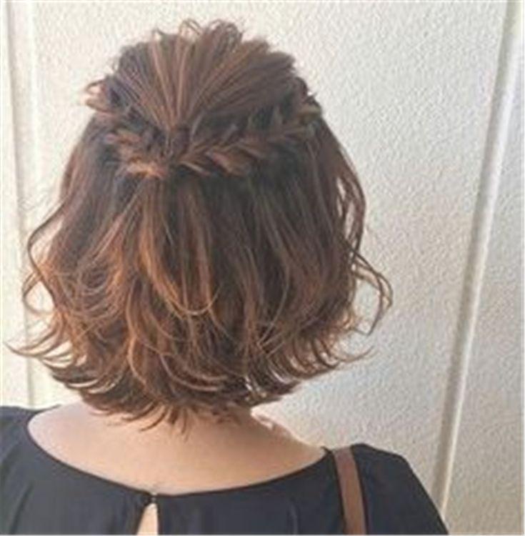 50+ einfache trendigste Zöpfe für kurzes Haar #shortupdohairstyles