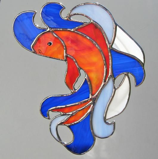 Koi Fish - Delphi Stained Glass