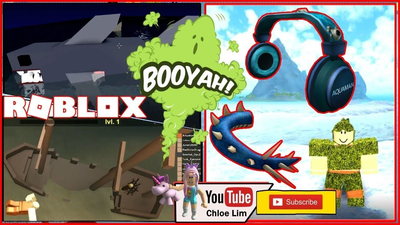 Roblox Booga Booga Getting The Aquaman Event Items Water Dragon