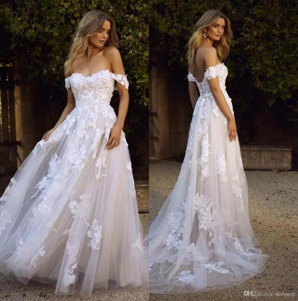Wedding Gown Off White Bohemian Discount Vintage 2019 White Wedding Dresses Off Beach Wedding Dress Boho Lace Wedding Dress Vintage November Wedding Dresses [ 1200 x 1188 Pixel ]