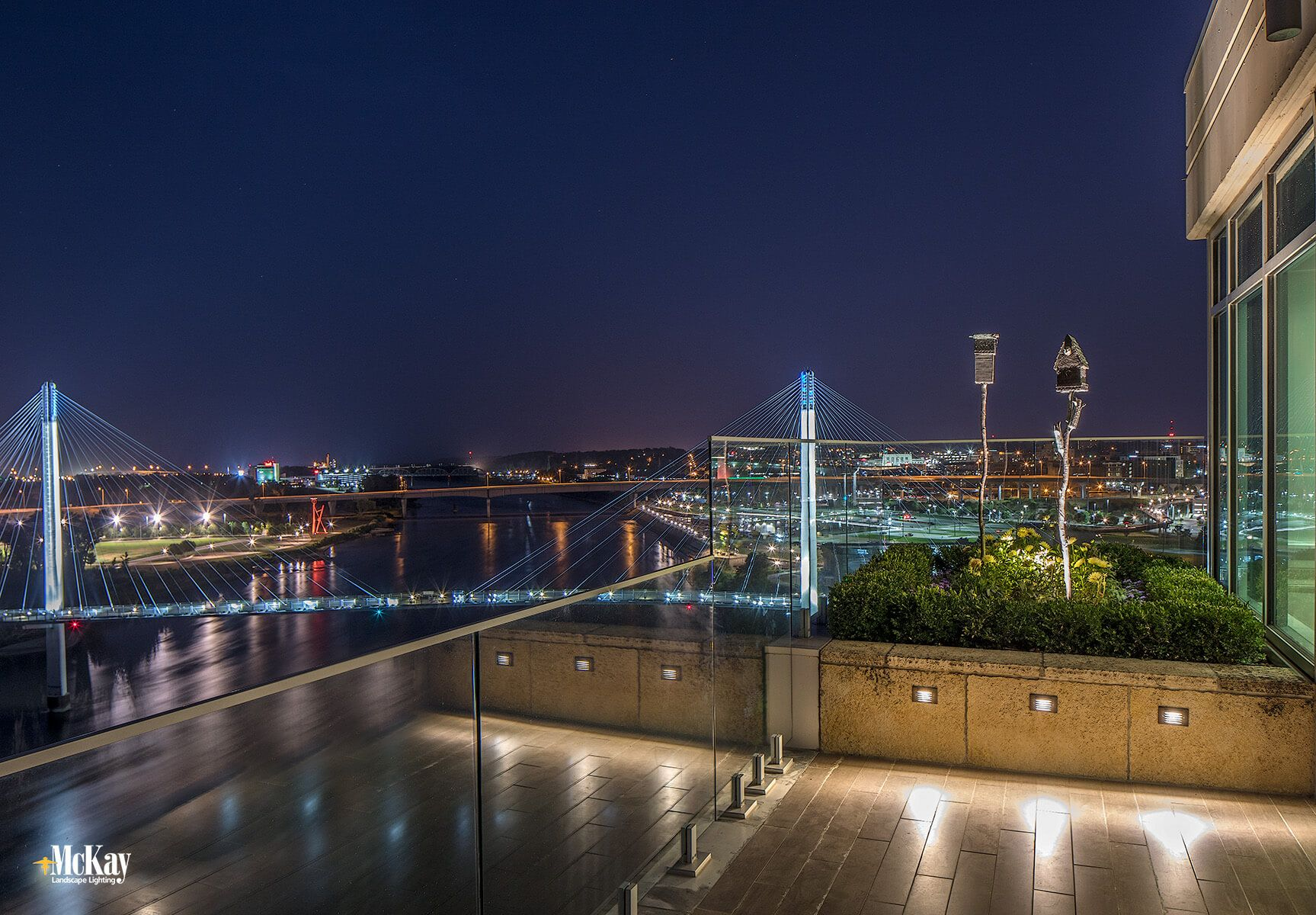 New Landscape Lighting Project: Downtown Omaha Private Rooftop Terrace