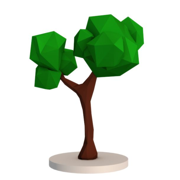 my first low poly tree