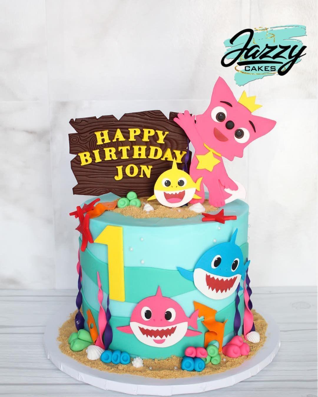 Pin By Brianna Nguyen On Amaya Shark Birthday Cakes Happy