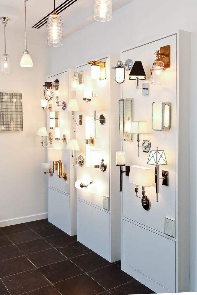 Lighting Display In The Georgetown Showroom Showroom Interior Design Lighting Design Interior Lighting Showroom