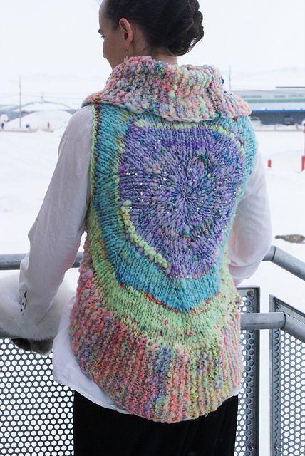Knitting patterns galore nebula medallion vest crafts womens knitting patterns galore nebula medallion vest dt1010fo