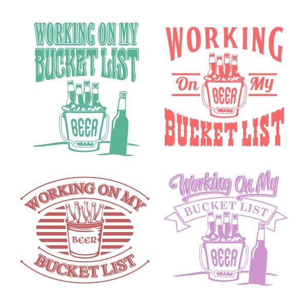 Bucket Beer Cuttable Design Beer Silhouette Cutter Beer Images