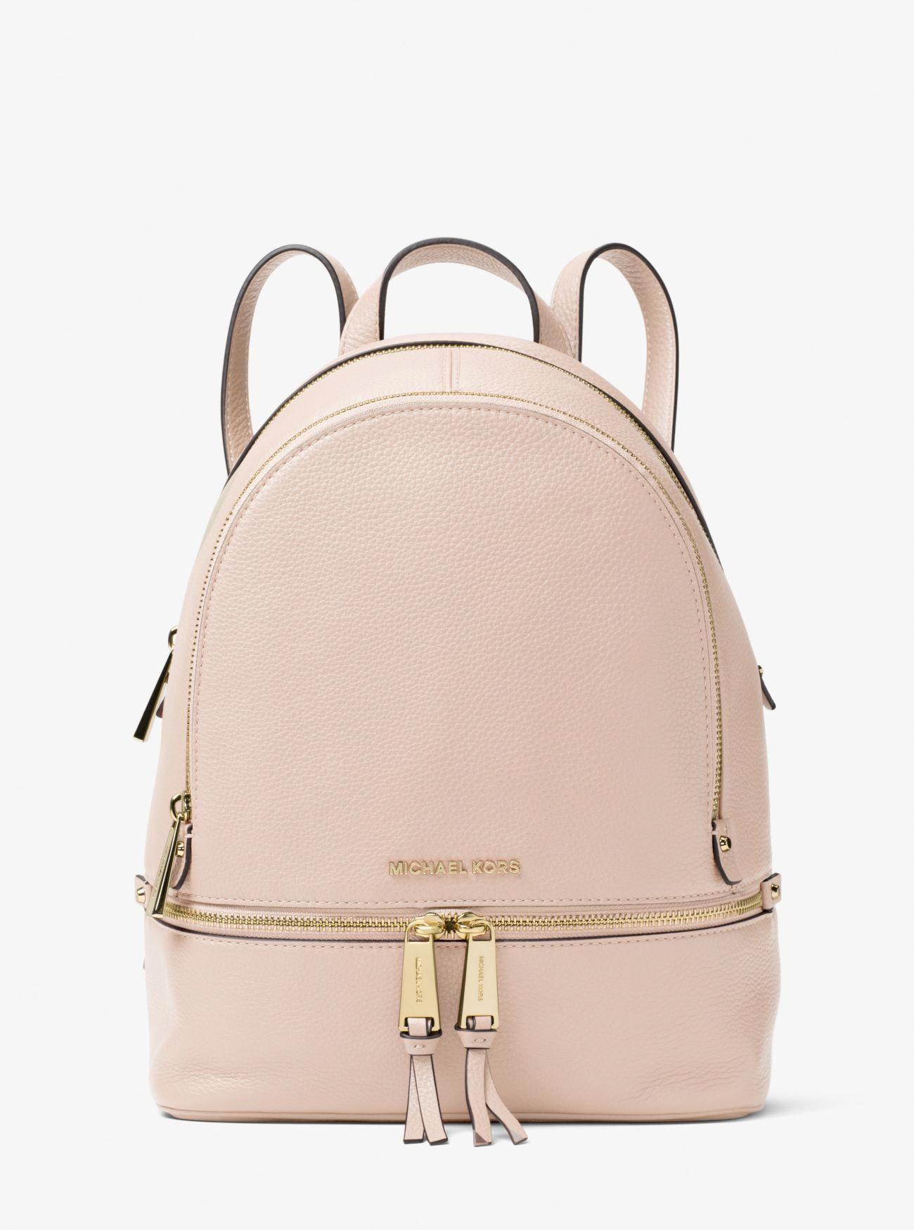 48f68747a0e7 Rhea Medium Leather Backpack #Handbagsmichaelkors | Handbags michael ...