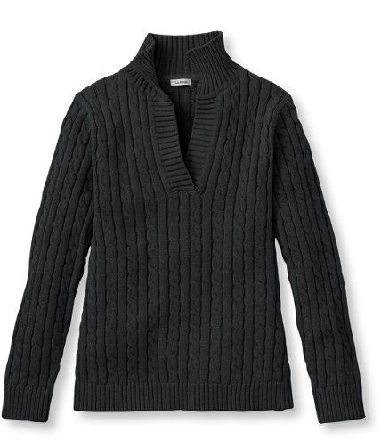 Double L Cotton Sweater, Splitneck Pullover: V-Necks | Free Shipping at L.L.Bean