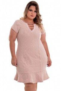 f80988705 Vestido Plus Size Pérolas Rose Vestidos Curtos Plus Size, Vestidos De Baile  Curtos, Vestidos