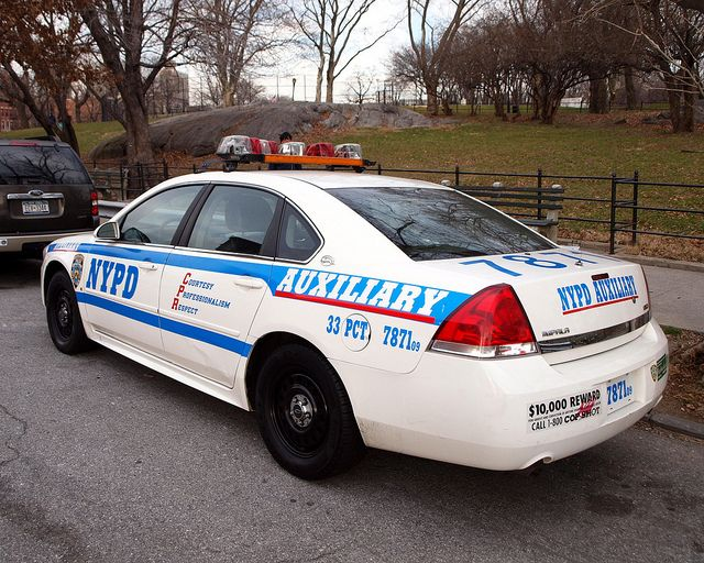 P033s NYPD Auxiliary Police Car, Washington Heights, New York City