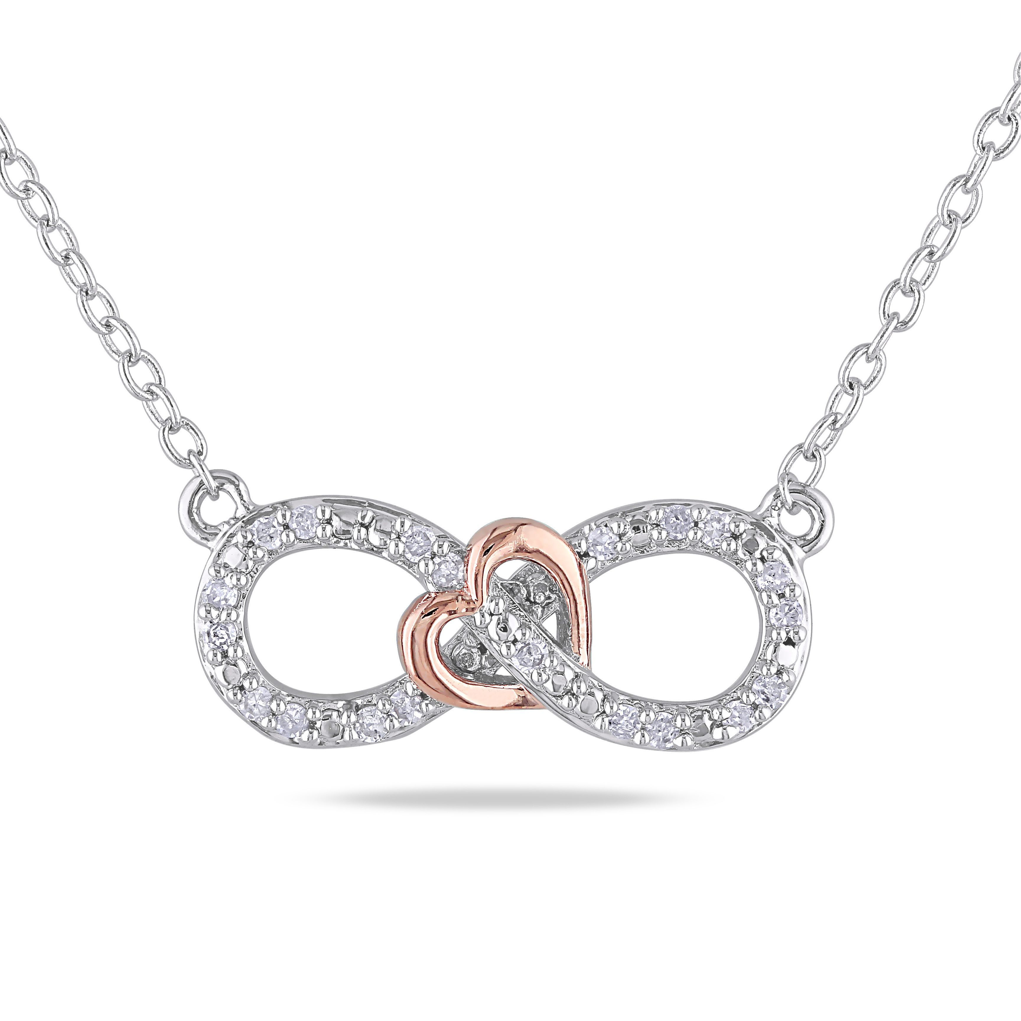 Miadora sterling silver size size ct tdw diamond heart