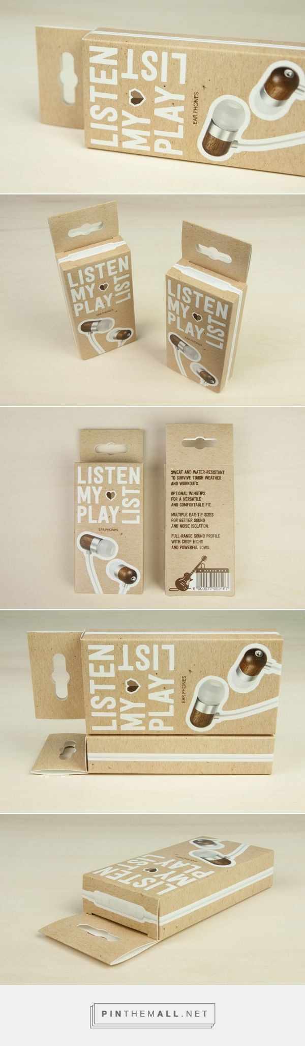 Audio - Here it is a #packaging for #earphones realised choosing the hanging box model available on #Packly with custom sizes and personalised artwork