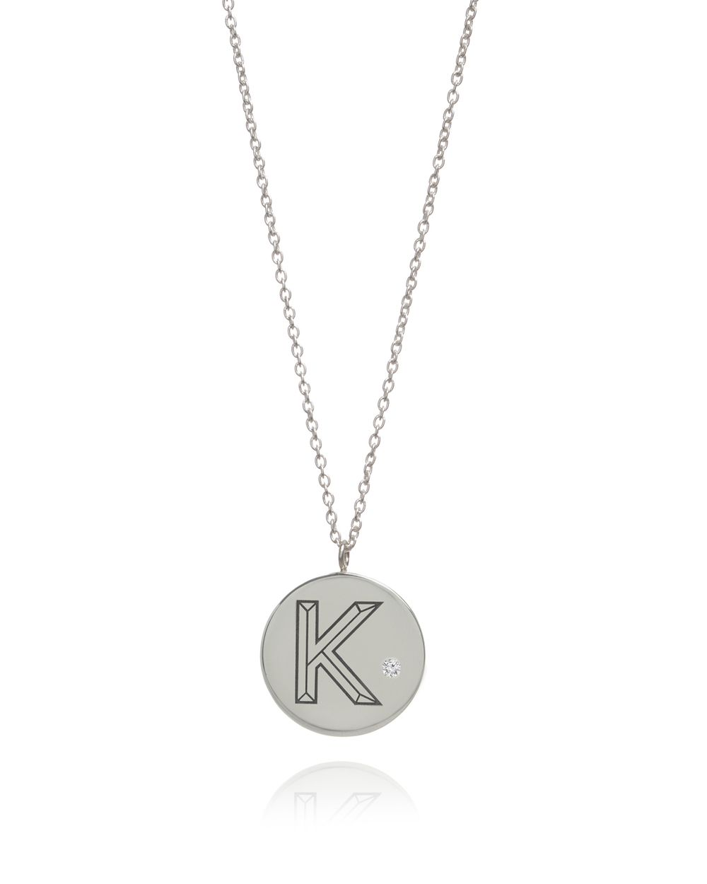 Myia bonner silver facett initial circle pendant necklace made in silver facett initial circle pendant necklace made in england jewellery design mozeypictures Gallery