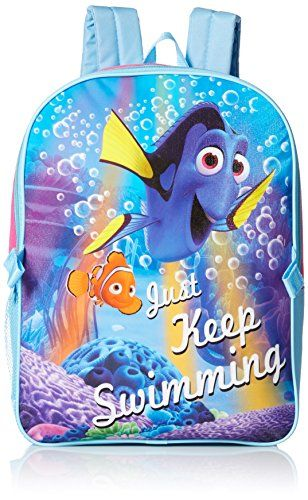 01a9522a9ea Disney Little Girls Finding Dory Backpack with Lunch Purple One Size      Click image to review more details.