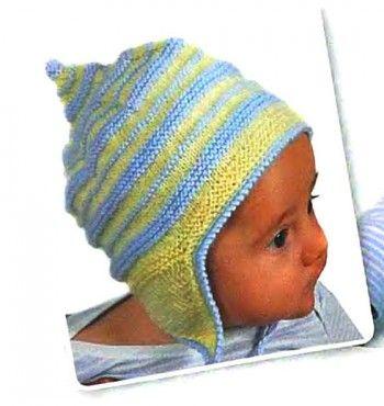 Детская шапочка связанная спицами с описанием, Вязание для ...