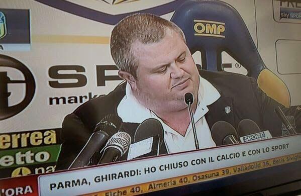 SCRIVOQUANDOVOGLIO: CALCIO:GHIRARDI LASCIA IL CALCIO PER LA RABBIA DOP...