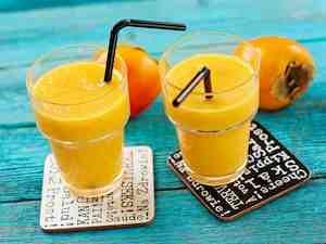 Appelsiini-sharonsmoothie