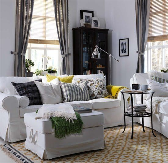 Fabulous Modern Ektorp Sofa In White With An Ottoman Ikea Living Gmtry Best Dining Table And Chair Ideas Images Gmtryco
