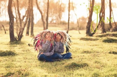 Kids Feather Headdress by Paradise Gypsies | Paradise Gypsies - Check out our collaborations to see who has loved our feather headdress in magazines & photoshoots Worldwide!!  www.paradise-gypsies.com