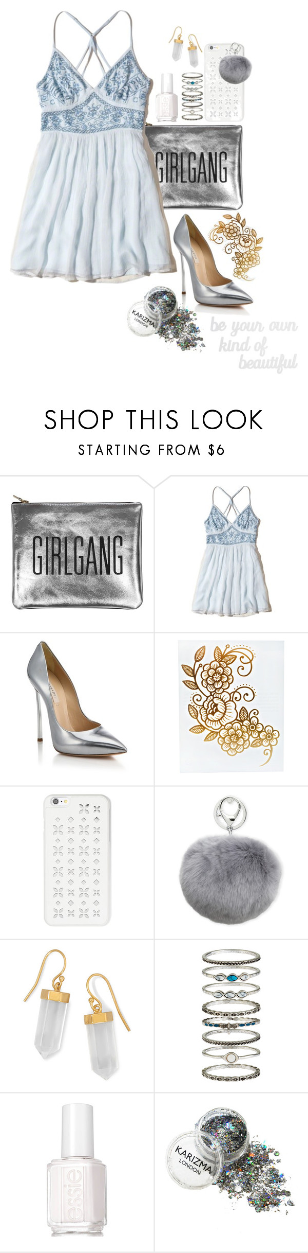 """""""I've Had Enough Of Crying ♥"""" by shyanimallover5 ❤ liked on Polyvore featuring Sarah Baily, Hollister Co., Casadei, MICHAEL Michael Kors, Adrienne Landau, BillyTheTree, Accessorize, Essie and PBteen"""