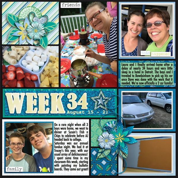 My Story Collection by Lindsay JaneLife Pages January 2017 Week 4 by JBS Templates
