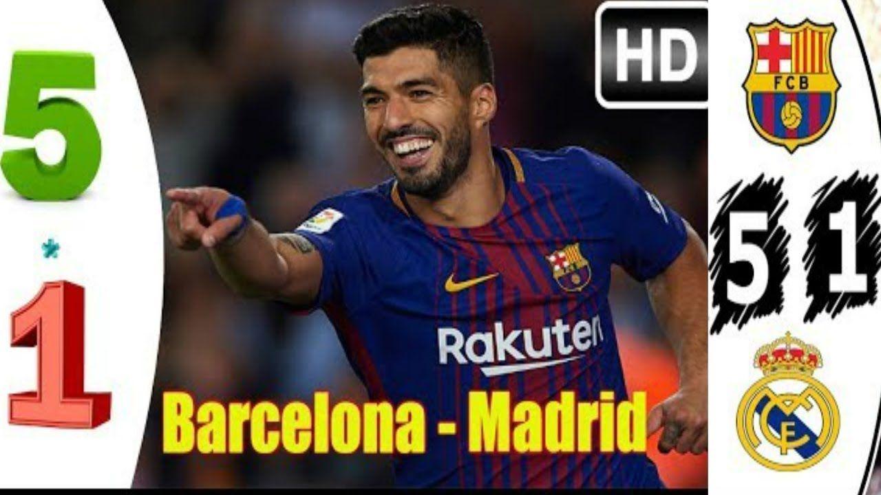 Barcelona vs Real Madrid 5 1 Resumen Goles Highlights 28