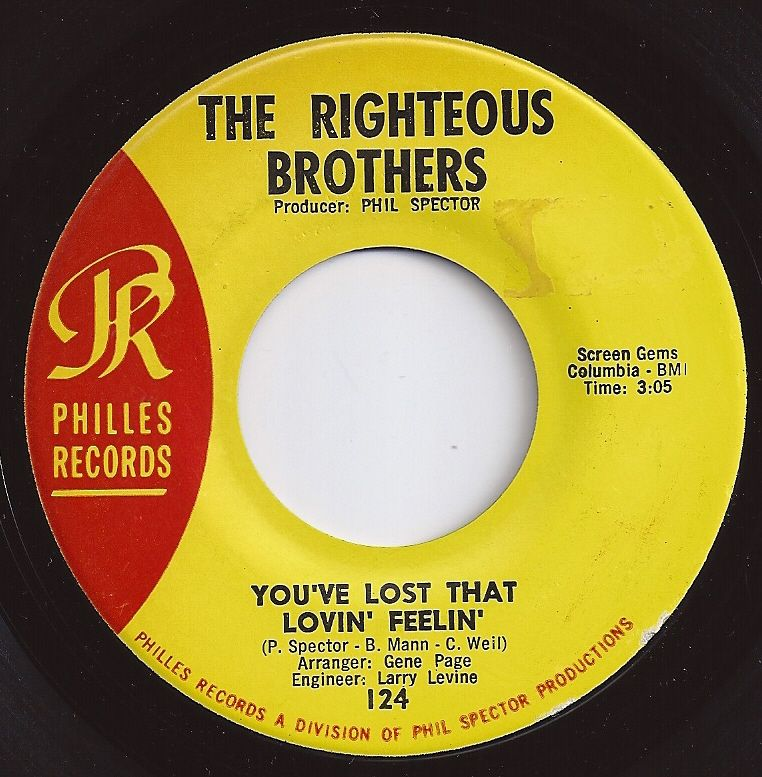 You Ve Lost That Lovin Feelin Righteous Brothers 1 On Billboard 1965 Music Memories Oldies Music 1960s Music