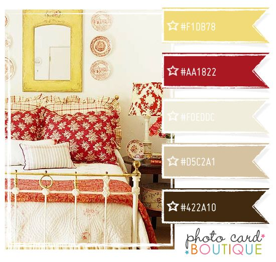 Brown, Butter Yellow And Red. Paint Walls Light Brown